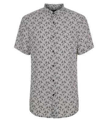 Black And White Print Short Sleeve Shirt New Look