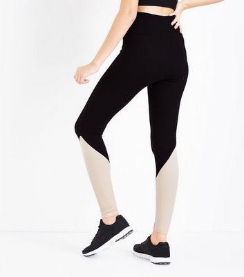 Black Ribbed Leggings New Look