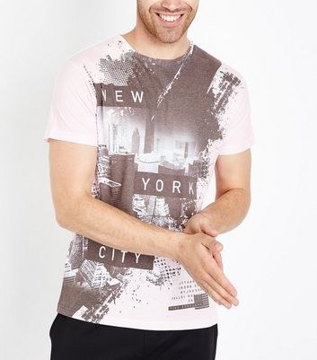 Pale Pink New York City T-Shirt New Look