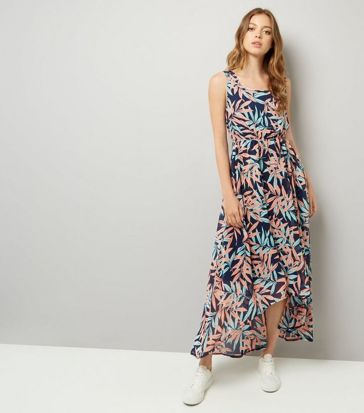 ba0193d397c Apricot Blue Tropical Print Dip Hem Maxi Dress Add to Saved Items Remove  from Saved Items