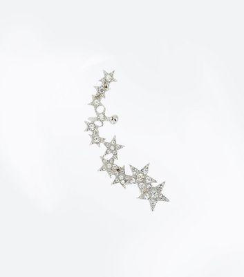 Silver Star Shape Earcuff New Look