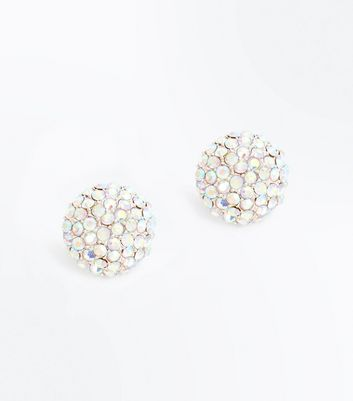 Rose Gold Diamante Stud Earrings New Look