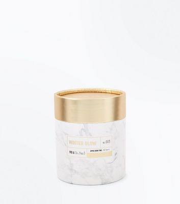 Gold Winter Glow Candle New Look
