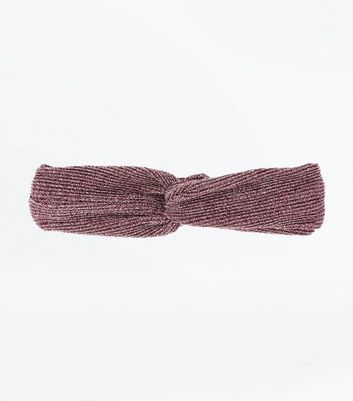 Pink Glitter Twist Hair Band New Look