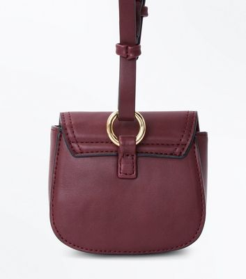 Burgundy Clip On Micro Bag New Look