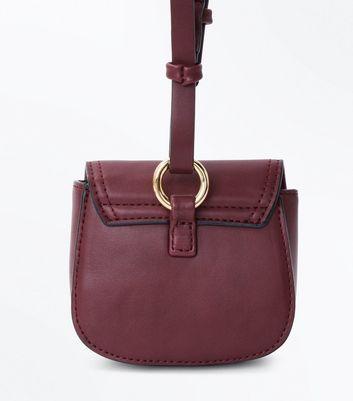 Burgundy Clip On Micro Bag New Look