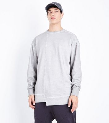 Pale Grey Longline Sweatshirt