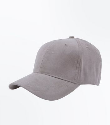 Grey Corduroy Cap New Look