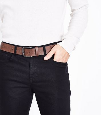 Brown Leather Look Belt New Look