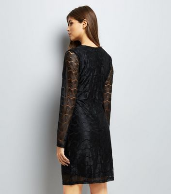 Mela Black Chain Lace Bodycon Dress New Look