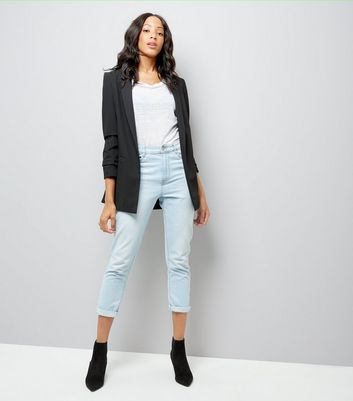 Tall Black Longline Blazer New Look