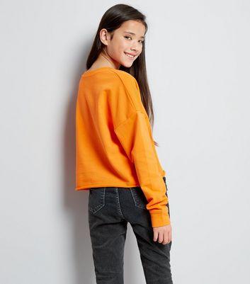 teens-orange-new-york-metallic-slogan-sweater