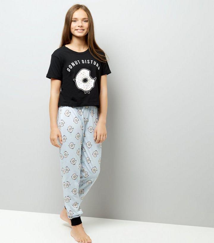 bas prix classique chic bon service Ados - Ensemble pyjama noir à slogan Donut Ajouter à la Wishlist Supprimer  de la Wishlist