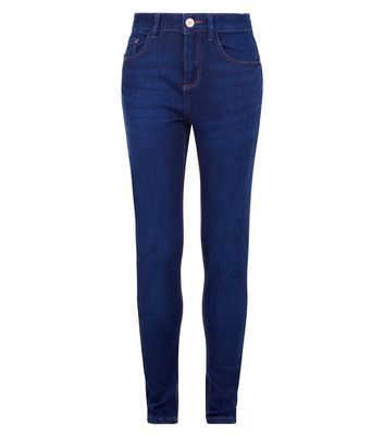 Teens Blue Rinse Wash Skinny Jeans New Look
