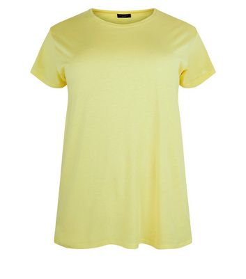 Curves Yellow Oversized T-Shirt New Look