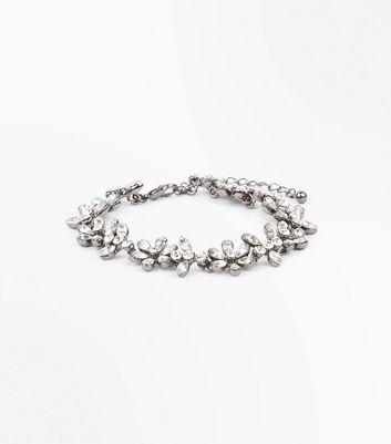 Flower Stones Crystal Bracelet New Look