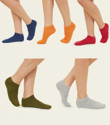 5 Pack Multicoloured Trainer Socks New Look