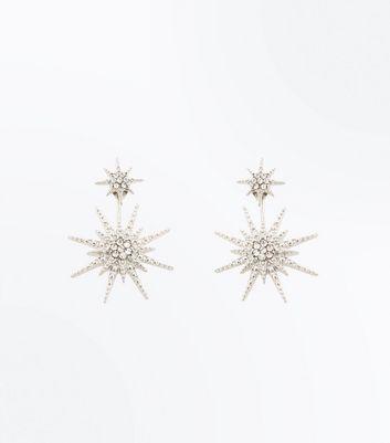 Silver Embellished Star Ear Jacket New Look