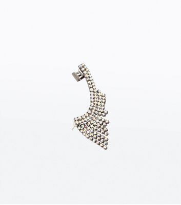 Silver Embellished Earcuff New Look