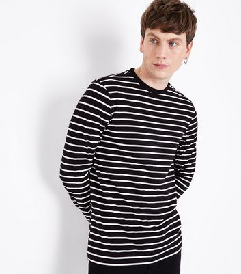 Black Stripe Long Sleeve Top
