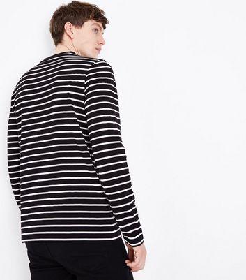 Black Stripe Long Sleeve Top New Look