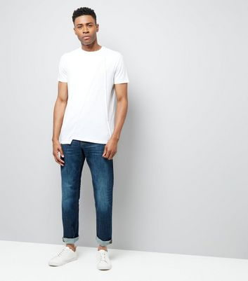 White Panel Front T-Shirt New Look