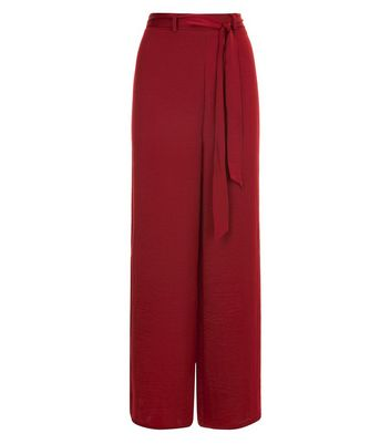 Rust Satin Wide Leg Pyjama Trousers New Look
