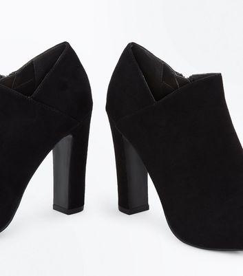 Black Comfort Flex Wrap Side Shoe Boots New Look