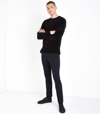 Black Chenille Jumper New Look