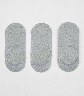 3 Pack Grey Pop Socks New Look