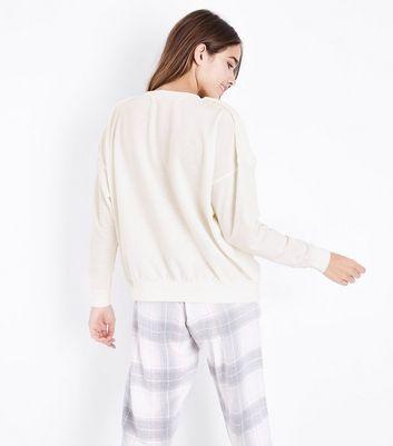 Cream Faux Fur Front Pyjama Sweatshirt New Look