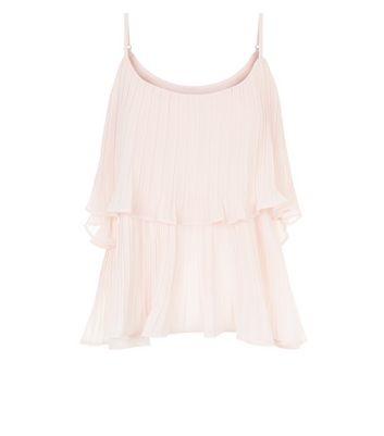 Cameo Rose Pink Frill Trim Cami New Look