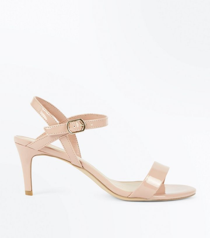 quality design quality large discount Nude Patent Mid Stiletto Heel Sandals Add to Saved Items Remove from Saved  Items