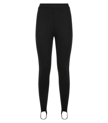 Black Stirrup Leggings New Look