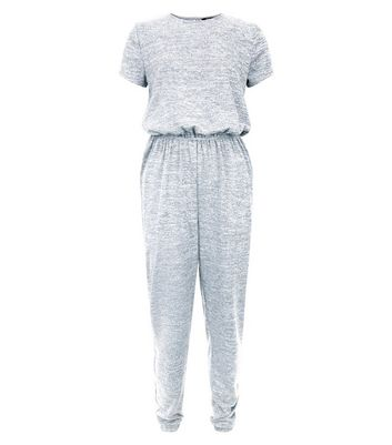 Teens Grey Fine Knit Jumpsuit New Look