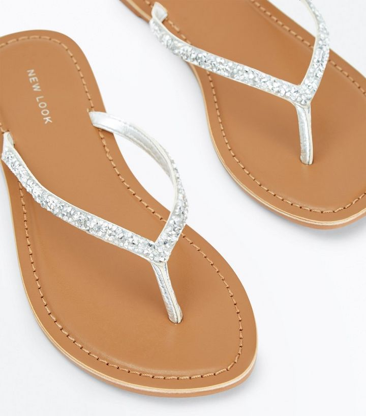 35a9f87b66cd ... Silver Crystal Embellished Flip Flops. ×. ×. ×. VIDEO Shop the look