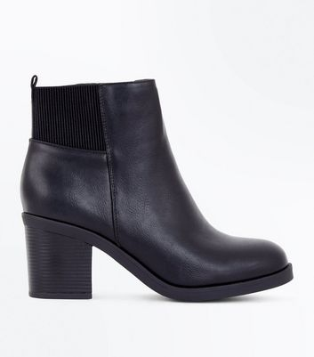 Black Block Heel Chelsea Boots New Look