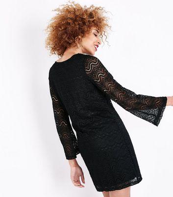 Mela Black Lace Long Sleeve Dress New Look
