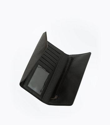 Black Glitter Envelope Purse New Look