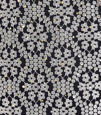 Mela Black Floral Sequin Embellished Dress New Look