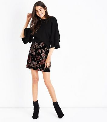 Black Tiered Sleeve Jumper New Look