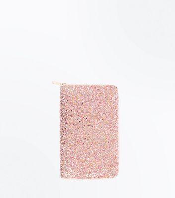 Pink Glitter Travel Wallet New Look