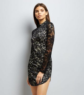 AX Paris Black Lace Bodycon Dress New Look