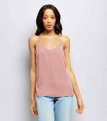 Pink V Neck Cami Top New Look
