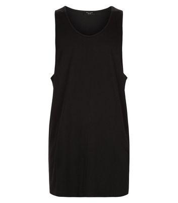 Black Drop Arm Vest Top New Look