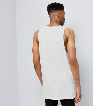 White Drop Arm Vest Top New Look