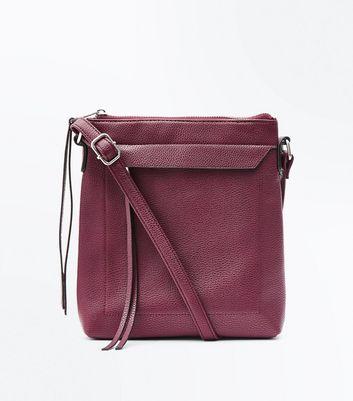 Burgundy Cross Body Bag New Look