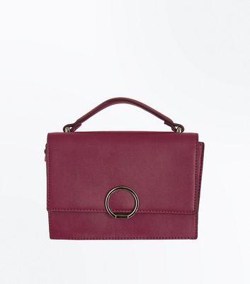 Purple Hoop Front Top Handle Bag New Look