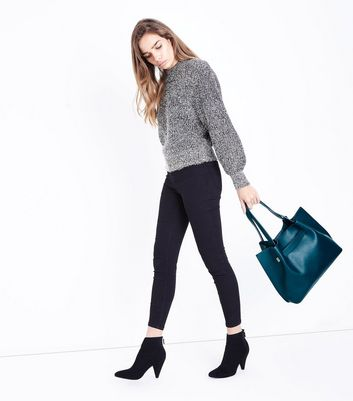 Teal Ruched Tote Bag New Look