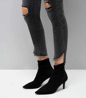 Parisian Dark Grey Ripped Knee Skinny Jeans New Look